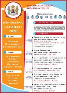 SĂPTĂMÂNA CATEHEZEI (30 NOIEMBRIE – 6 DECEMBRIE)  ÎN EPISCOPIA ORTODOXĂ ROMÂNĂ A ITALIEI