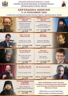 SĂPTĂMÂNA MISIUNII   2-12 NOIEMBRIE 2020
