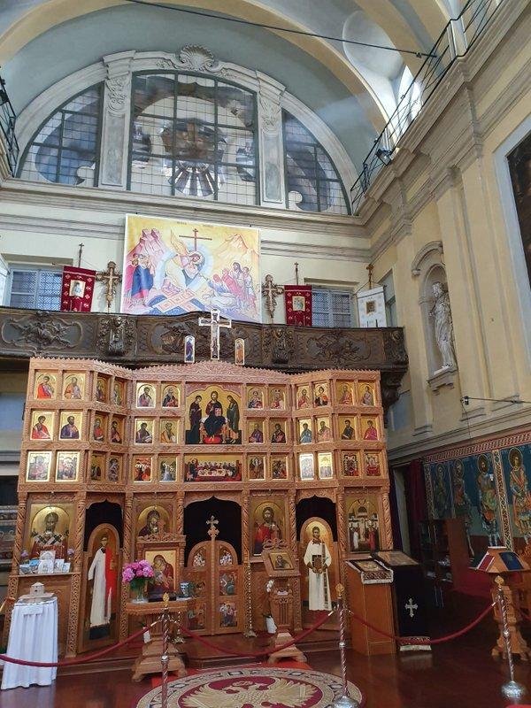 """Vizitarea bisericii Înălțarea Sfintei Cruci, Torino 2, organizată de FAI (Fondo Ambiente Italiano) și participarea la Seminarul cu tema """"Moartea și grija pentru cei de pe patul de moarte, în marile religii"""""""