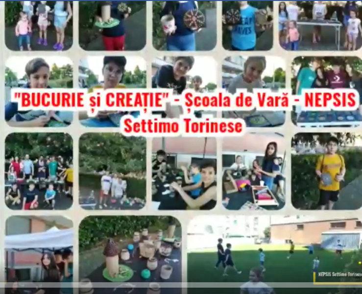 """""""Bucurie și Creație""""- Școala de Vară - NEPSIS Settimo Torinese !!!"""