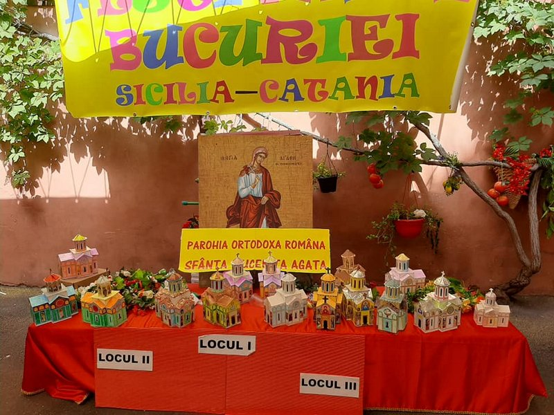 La FESTIVALUL BUCURIEI 2021 în Sicilia la Catania, toți copiii premiați au luat locul I